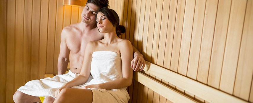 In Saunen schwitzen ist Erholung für Körper, Geist und Seele