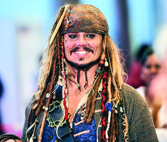 The German Jack Sparrow sorge für Unterhaltung.